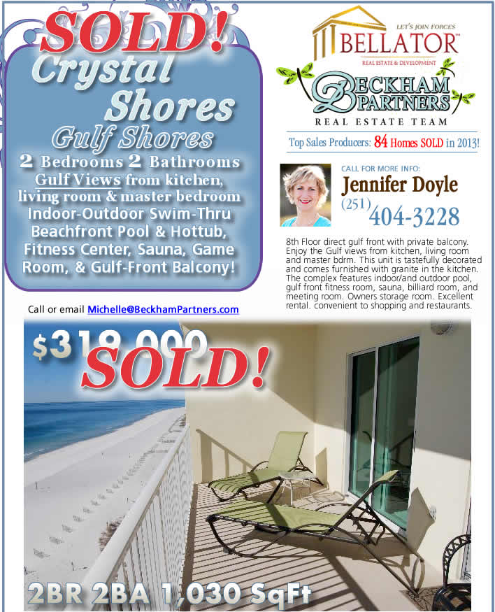 Gulf Shores Condo for Sale in Crystal Shores \ Gulf Shores AL Condo